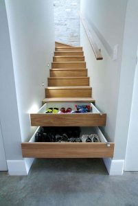 in stair drawers